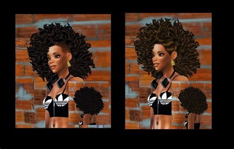 african cc hair for sism4 3 curled hairs for female at bebebrillit s4cc 187 sims 4 updates