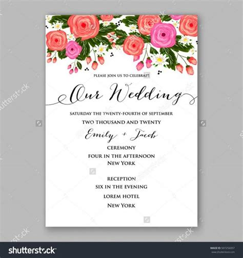 flower invitation template wedding invitation printable template with floral wreath