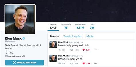 elon musk biography ppt twitter bio is now updated to include tunnels yes