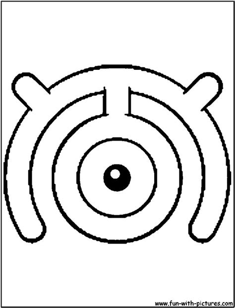 unown pokemon coloring pages 20 best unown images on pinterest pokemon coloring pages