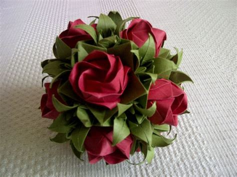 Folded Paper Roses - origami with tutorial clever paper crafts