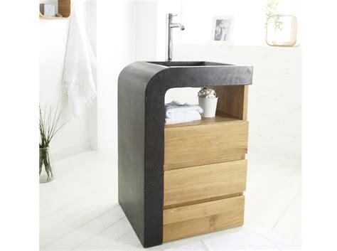 Charmant Meuble Vasque Pour Petite Salle De Bain #2: Petit-meuble-avec-lavabo-integre-pour-petite-salle-de-bains.jpg