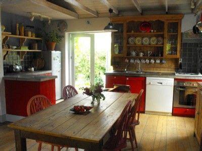 cute irish kitchen love  red cabinets  style irish cottage irish cottage decor
