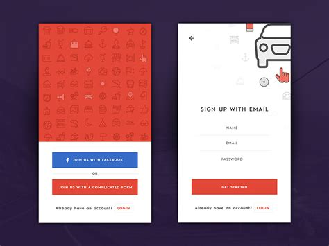 mail mobile login login sign up inspiration for mobile apps muzli design