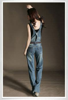 jumsuit overal raisha liner casual womens denim overalls distressed