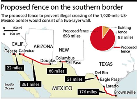us mexico border wall map hla oo s general amnesty for all 20 million illegals