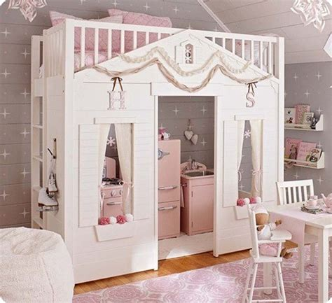 pottery barn kids loft bed cottage loft bed for a little girl s room