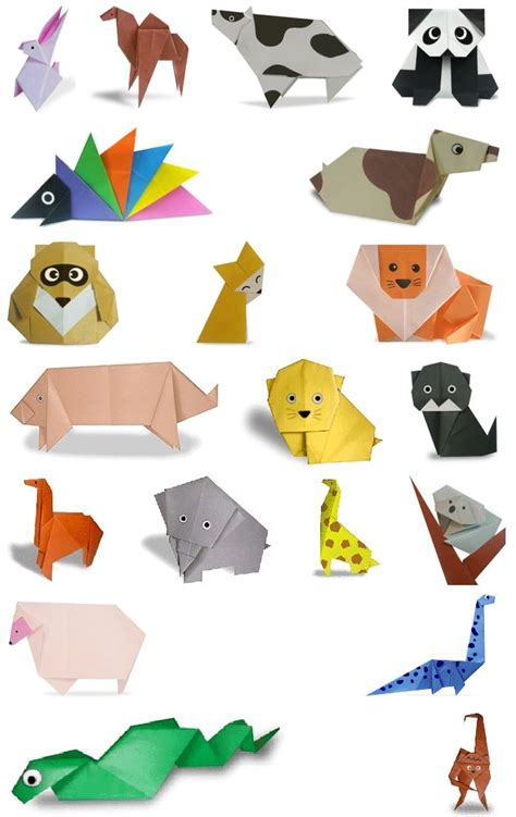 Paper Folding Of Animals - 25 best ideas about origami animals on