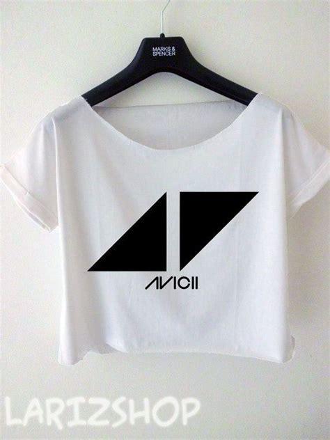 avicii merch avicii dj triangle logo printed cropped tee women by