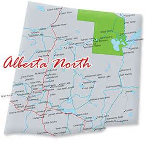 map of alberta canada rivers