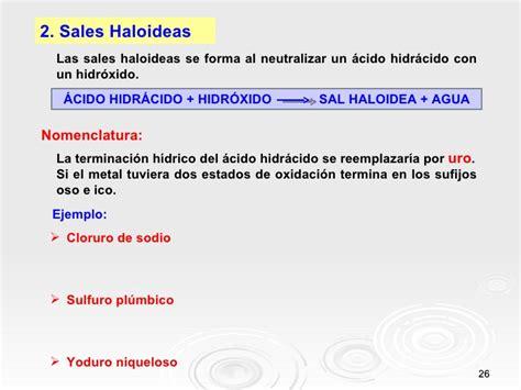 sales haloideas nomenclatura inorg 193 nica