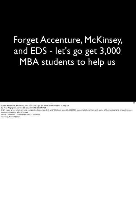 Does Mckinsey Support Mba by Web 2 0 Slide Deck Dec 2006
