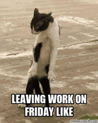 Leaving Work On Friday Meme - leaving work on friday like