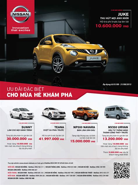 nissan new year promotion 2015 豈u 苟 227 i 苟蘯キc bi盻 khi mua xe nissan trong th 225 ng 8