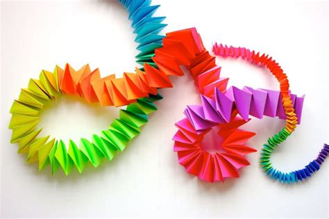 How To Make A Folded Paper Chain - colorize your classroom with an astrobrights diy paper chain