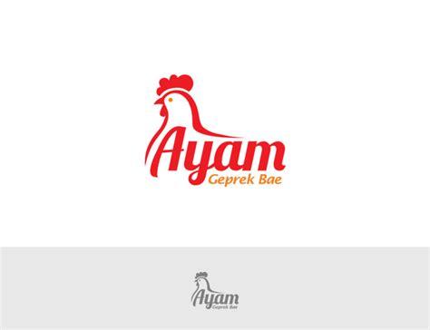 sribu desain logo  desain logo  ayam geprek bae