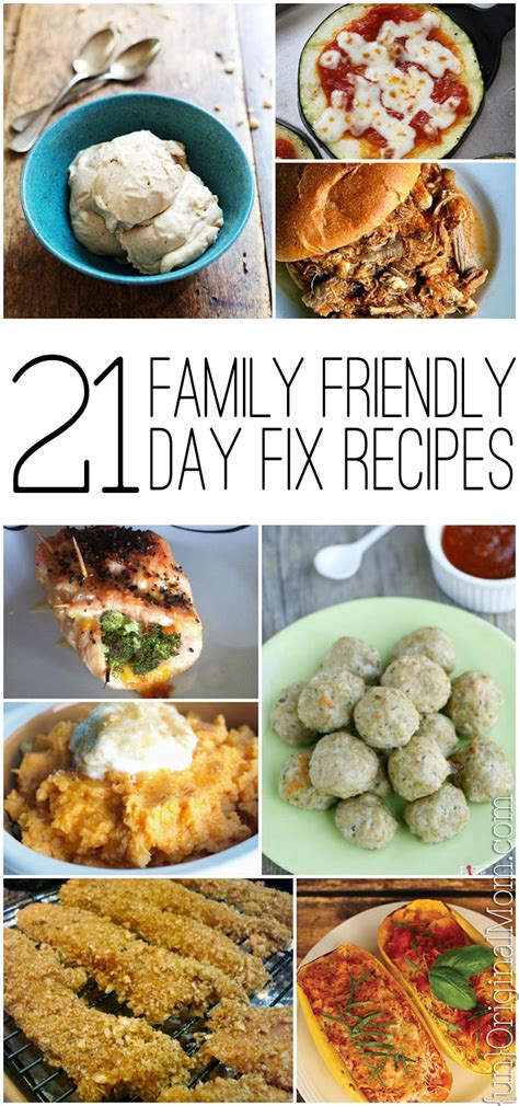 21 day fix family friendly recipes unoriginal