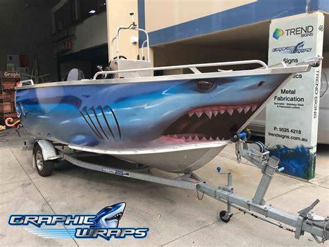 fishing boat paint designs mako shark boat wrap odd pinterest boat wraps boat