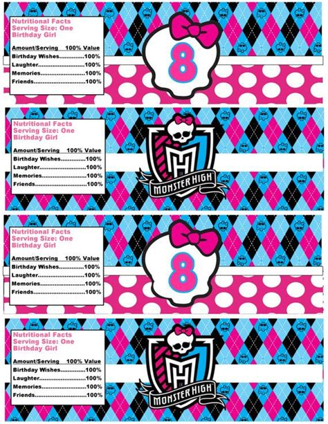monster high printable party decorations 340 best monster high party images on pinterest monster