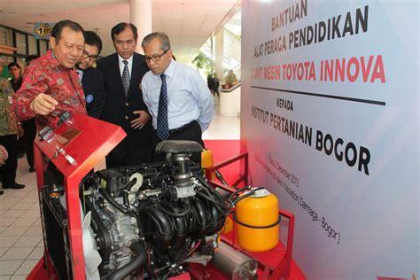 Mesin Antrian Fakultas Pertanian autoglobemagz toyota indonesia donasikan alat peraga pendidikan di kus ipb