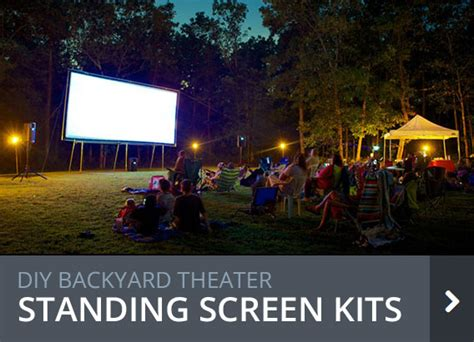 backyard theater screen diy projection screens for backyard theater