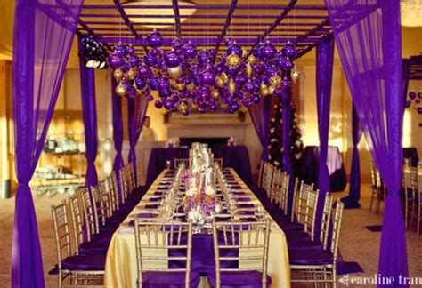purple and silver make a glamorous combination in the purple gold and yellow color combination idea wedding