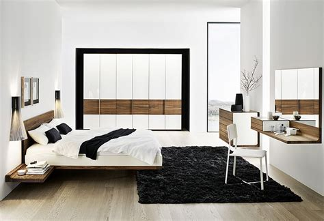 modern minimalist solid walnut bed furniture design jpg