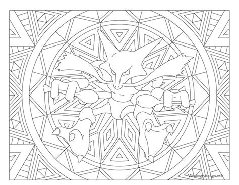 pokemon coloring pages for adults adult pokemon coloring page alakazam coloring pages