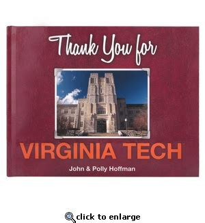 Virginia Tech Mba by Thank You For Virginia Tech Book