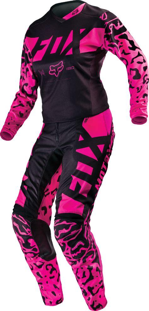 womens fox motocross pants fox racing womens black pink 180 dirt bike jersey pants