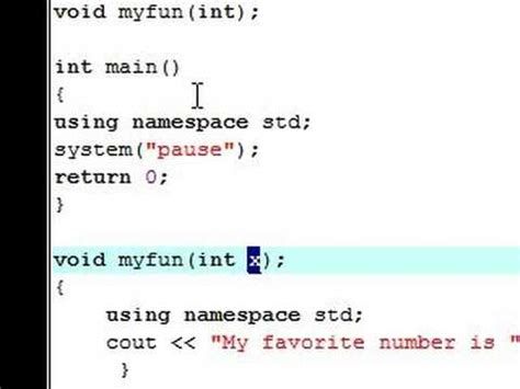 pattern namespace c c tutorial 8 user defined functions youtube