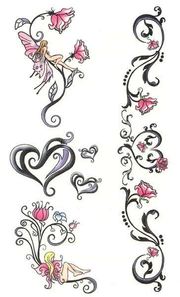 hearts and flower tattoos designs tattoos and designs page 95