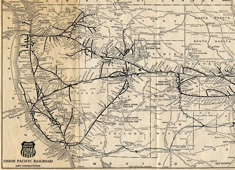 union pacific railroad map texas pacific union trains 1925 union pacific railroad map part 1 see map details from freepages
