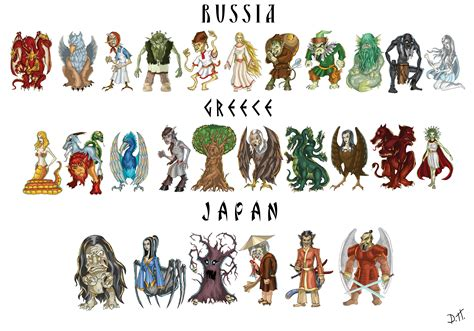 mythical monsters names mythical creatures by de prime on deviantart