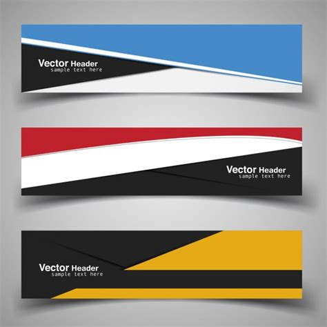 Modern Banner Template Vector Free Download Banner Template For