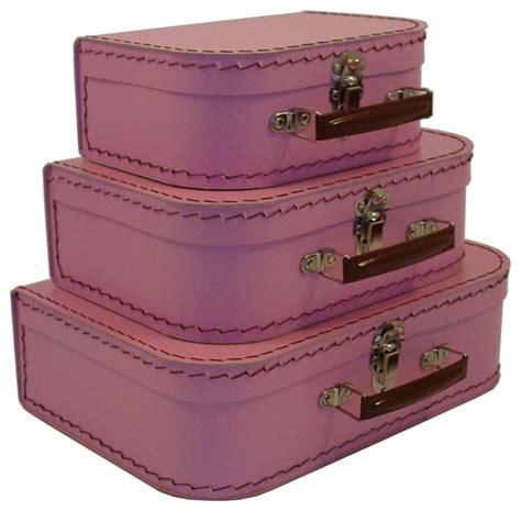 Decorative Suitcase by Cargo Traveler Mini Suitcases Set Of 3 Pink Blush