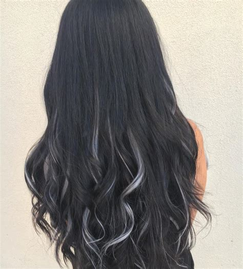 pictures of hairstyles black hair gray highlights black hair with grey highlights pictures life style by