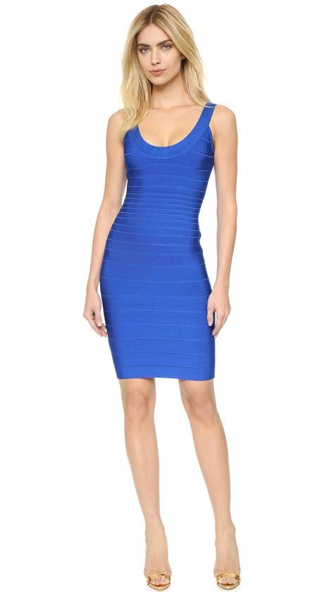Herve Dress lyst herv 233 l 233 ger sydney dress in blue