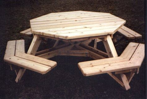 octagon picnic tables plans  woodworking