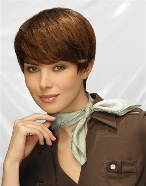black hair with short necks smooth short hair and a neck scarf