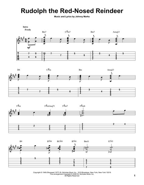Guitar Chords For Rudolph The Red Nosed Reindeer