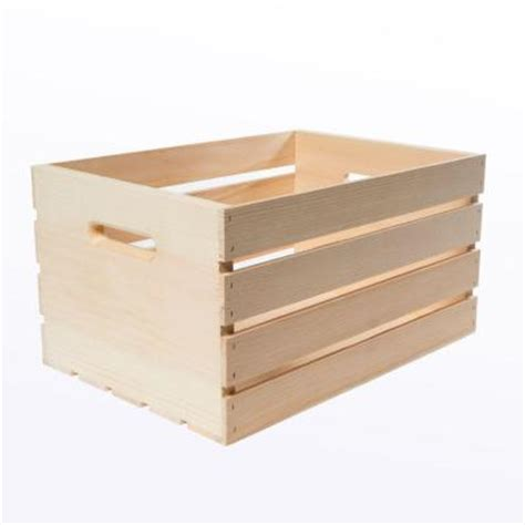 large wooden crates houseworks crates and pallet 18 in x 12 5 in x 9 5 in large wood crate 94565 the