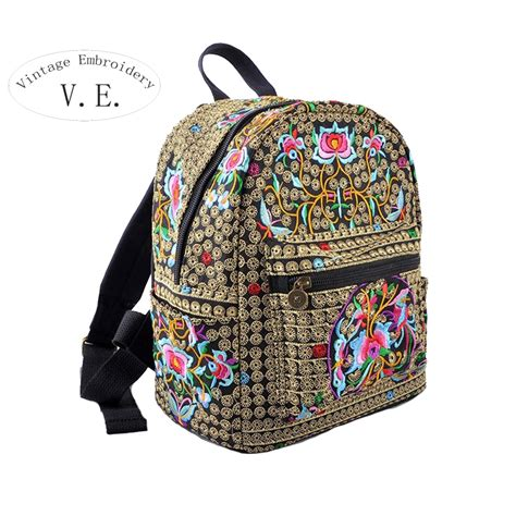 Handcrafted Backpacks - ᐅnational vintage canvas ツ 175 embroidery embroidery