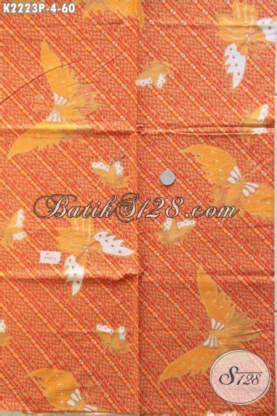 Kain Batik Murah Meriah 1 jual kain batik modern warna orange motif kupu