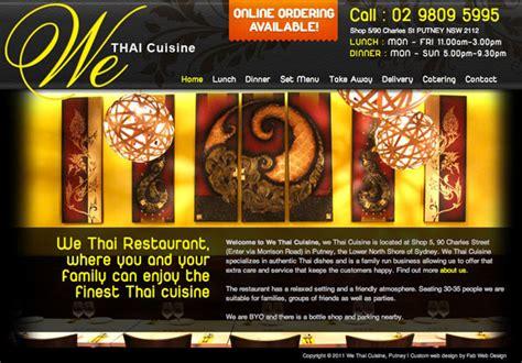 Fab Site Daszigncom by Website Design For We Thai Cuisine Gt Fab Web Design