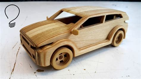 land rover wooden wooden range rover evoque toy car youtube