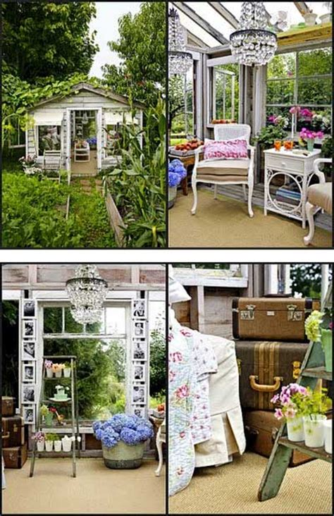 Vintage Kitchen Decorating Ideas Home Decor Greenhouse Shed Makeover Beautiful Interiors