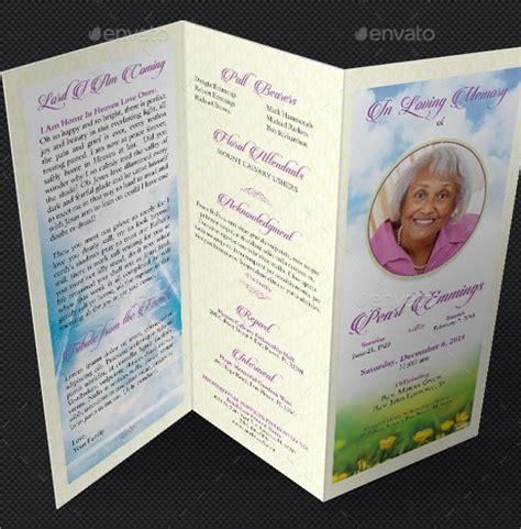 funeral memorial program templates psd ai vector
