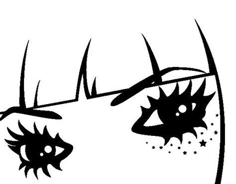 imagenes para colorear ojos dibujo de ojos emo para colorear dibujos net
