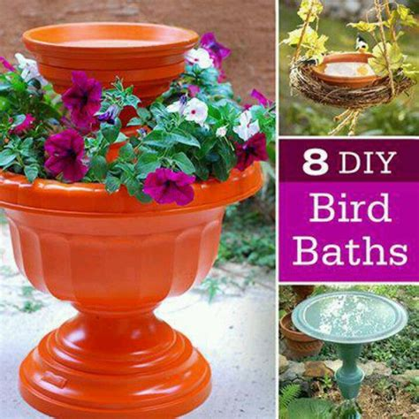 Bird Planters by Bird Bath Planters Misc Projects To Make